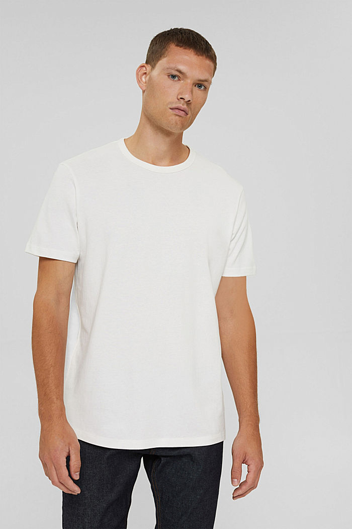 T-shirt made of 100% organic cotton, OFF WHITE, detail image number 0