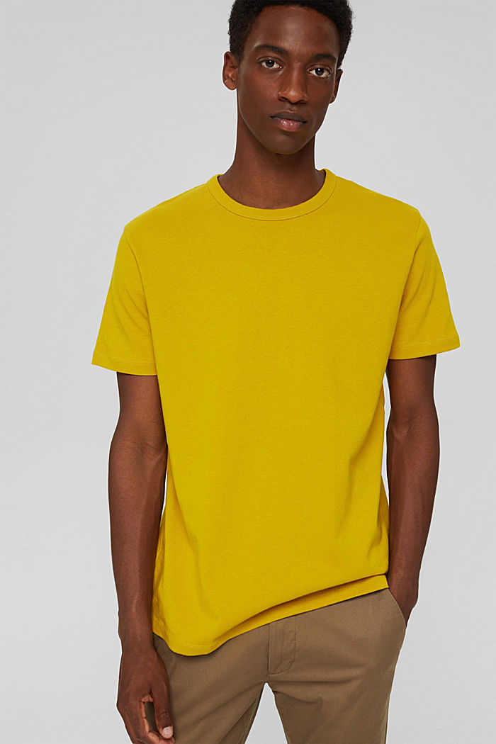 T-shirt made of 100% organic cotton, YELLOW, detail image number 0