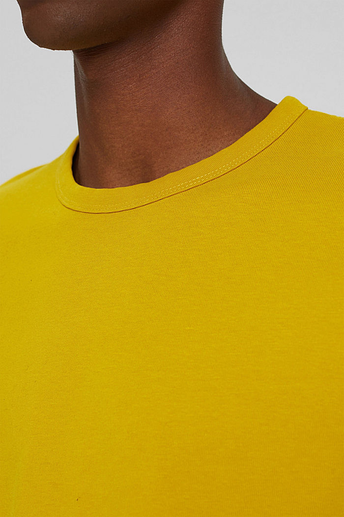 T-shirt made of 100% organic cotton, YELLOW, detail image number 1