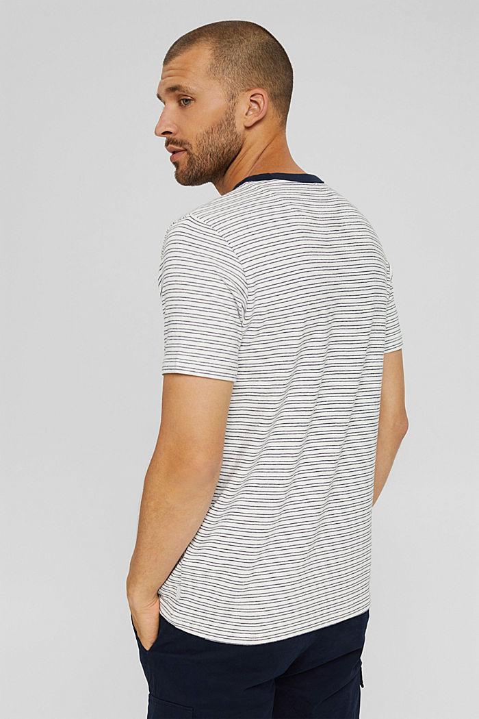 T-shirt rayé en jersey, 100% coton biologique, OFF WHITE, detail image number 3
