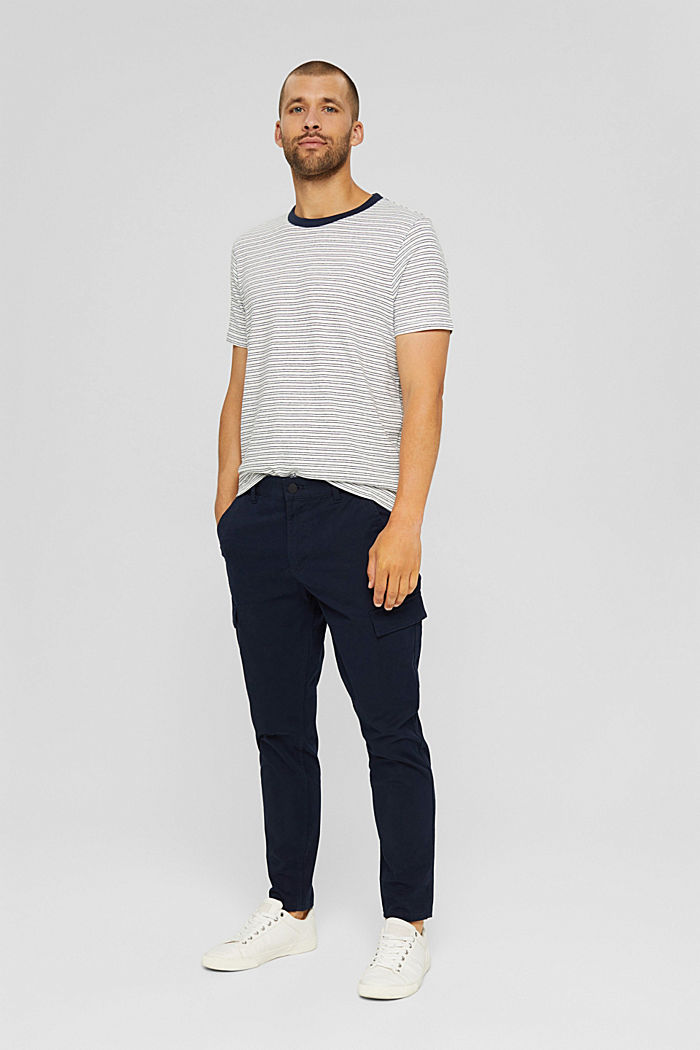 T-shirt rayé en jersey, 100% coton biologique, OFF WHITE, detail image number 7