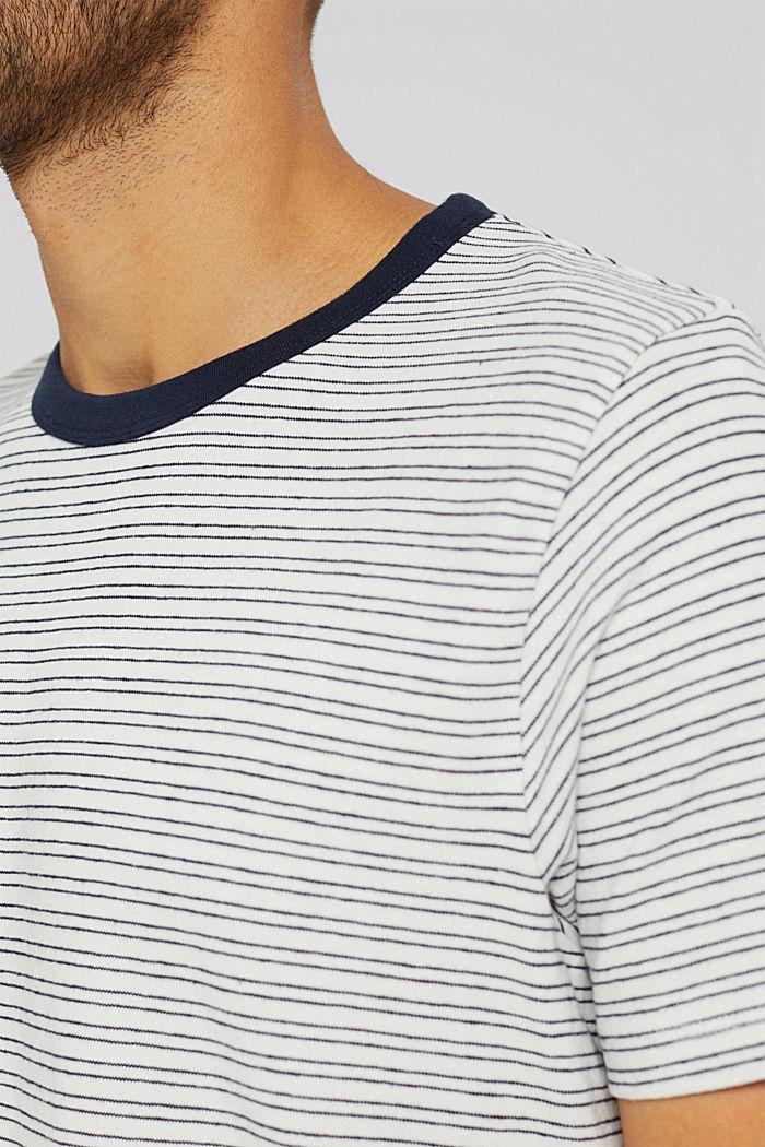 T-shirt rayé en jersey, 100% coton biologique, OFF WHITE, detail image number 1