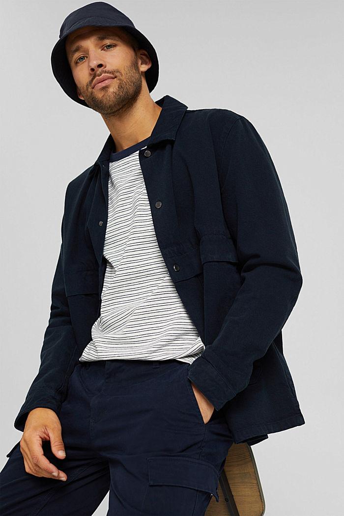 T-shirt rayé en jersey, 100% coton biologique, OFF WHITE, detail image number 6