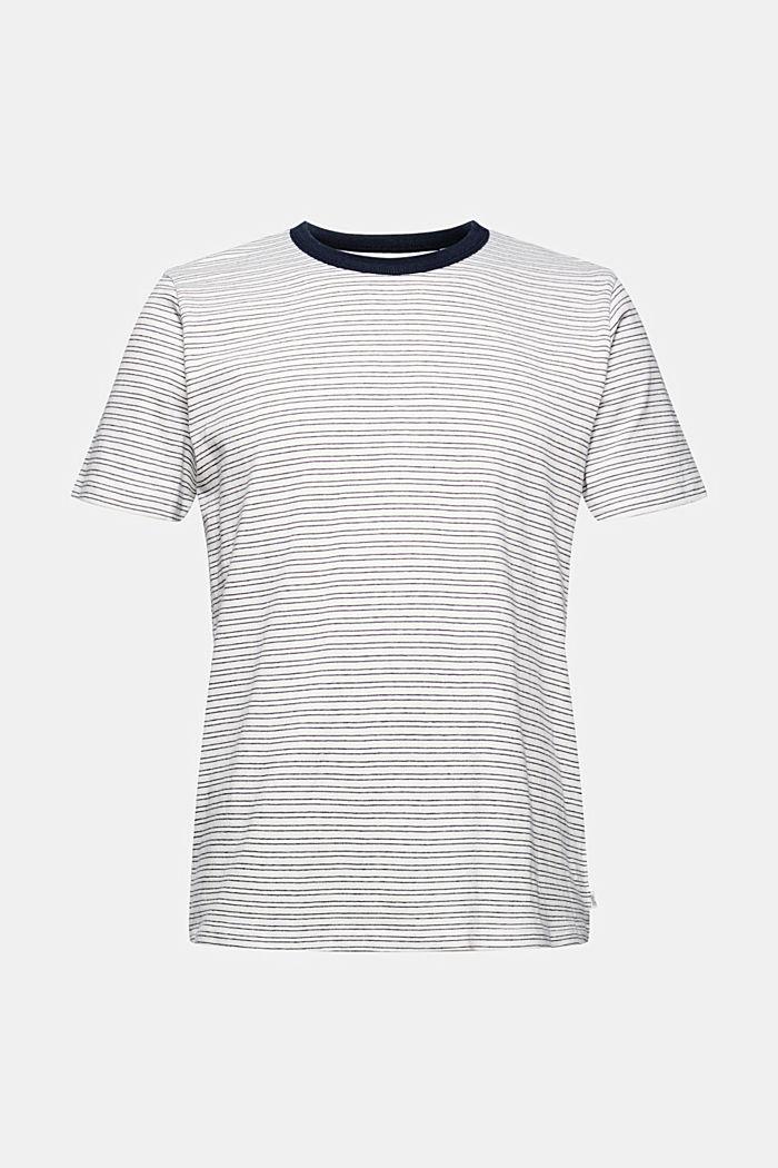 Striped jersey T-shirt, 100% organic cotton