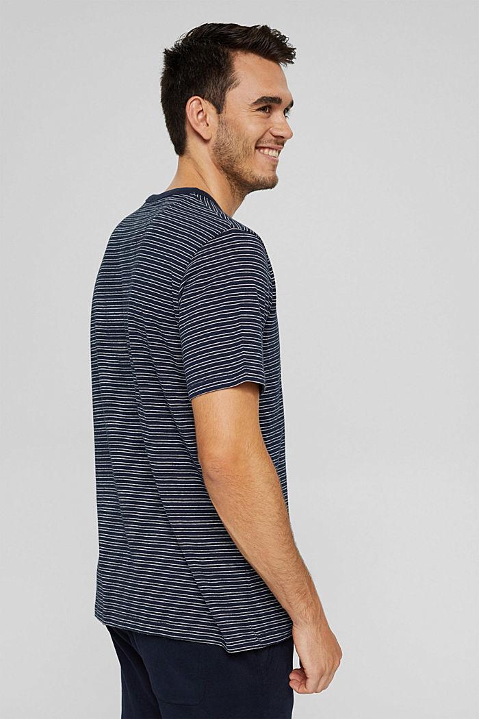 T-shirt rayé en jersey, 100% coton biologique, NAVY, detail image number 3