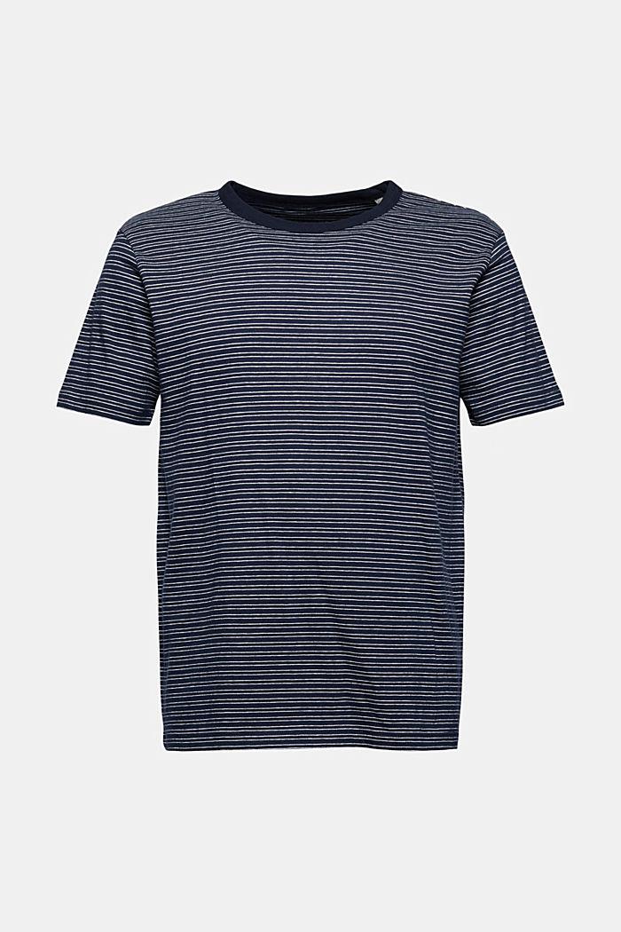 T-shirt rayé en jersey, 100% coton biologique, NAVY, detail image number 6