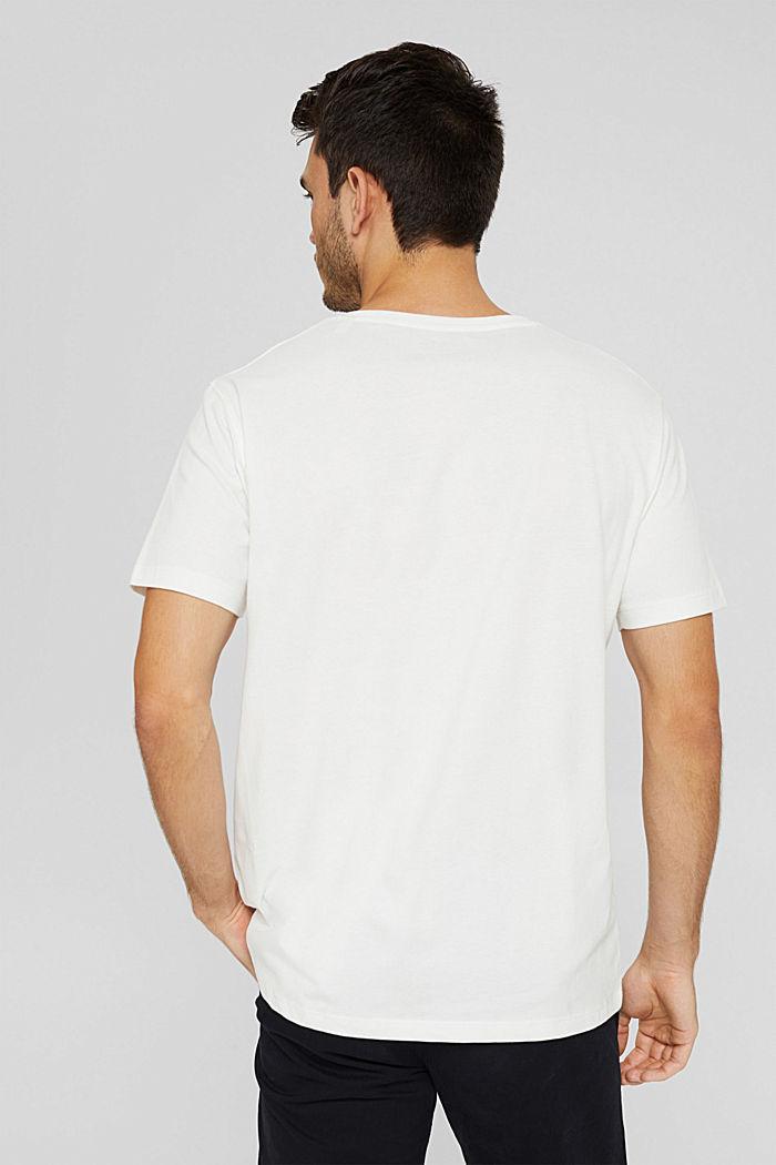 Jersey shirt met zak, biologisch katoen, OFF WHITE, detail image number 3