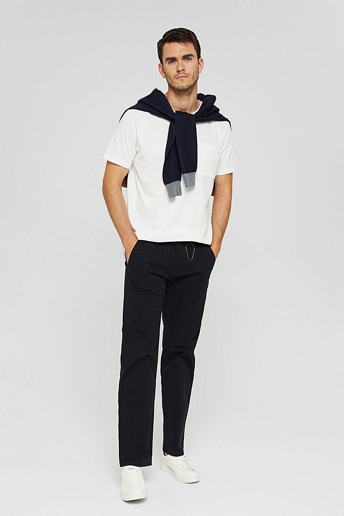 Jersey shirt met zak, biologisch katoen, OFF WHITE, detail image number 2