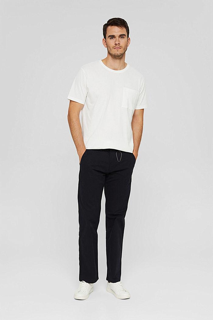 Jersey shirt met zak, biologisch katoen, OFF WHITE, detail image number 6