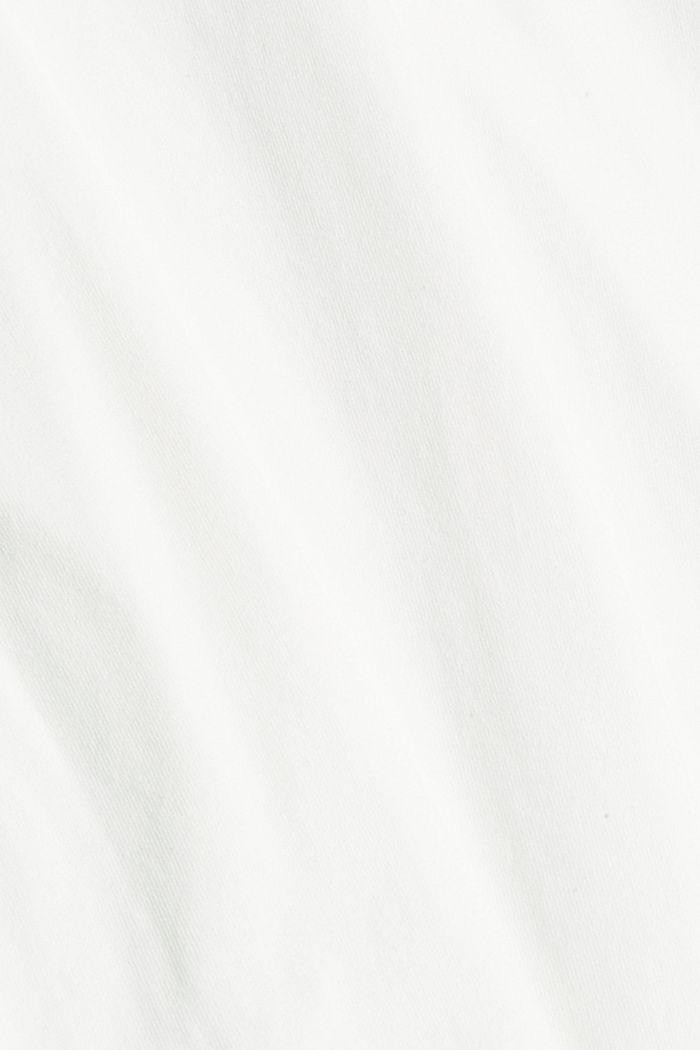 Jersey shirt met zak, biologisch katoen, OFF WHITE, detail image number 5
