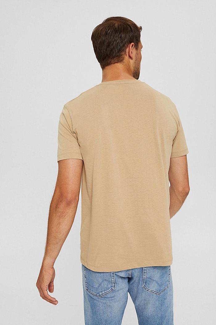 Haut en jersey doté d'une poche, coton biologique, BEIGE, detail image number 3