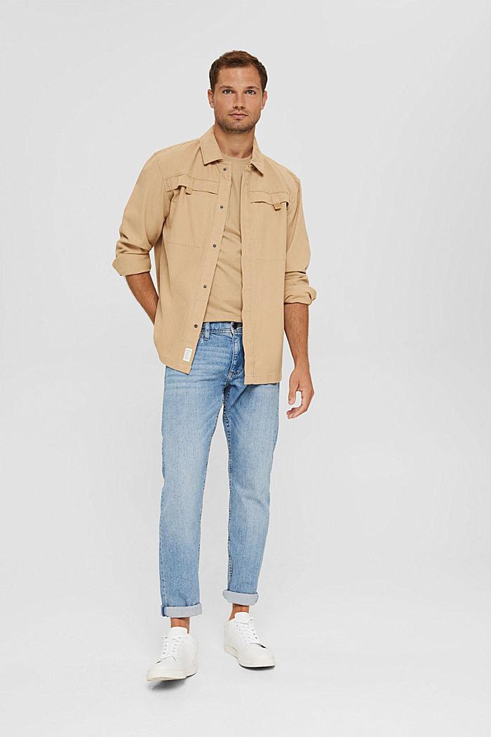 Haut en jersey doté d'une poche, coton biologique, BEIGE, detail image number 2