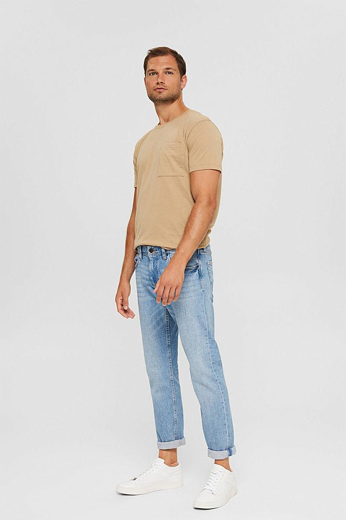 Haut en jersey doté d'une poche, coton biologique, BEIGE, detail image number 6