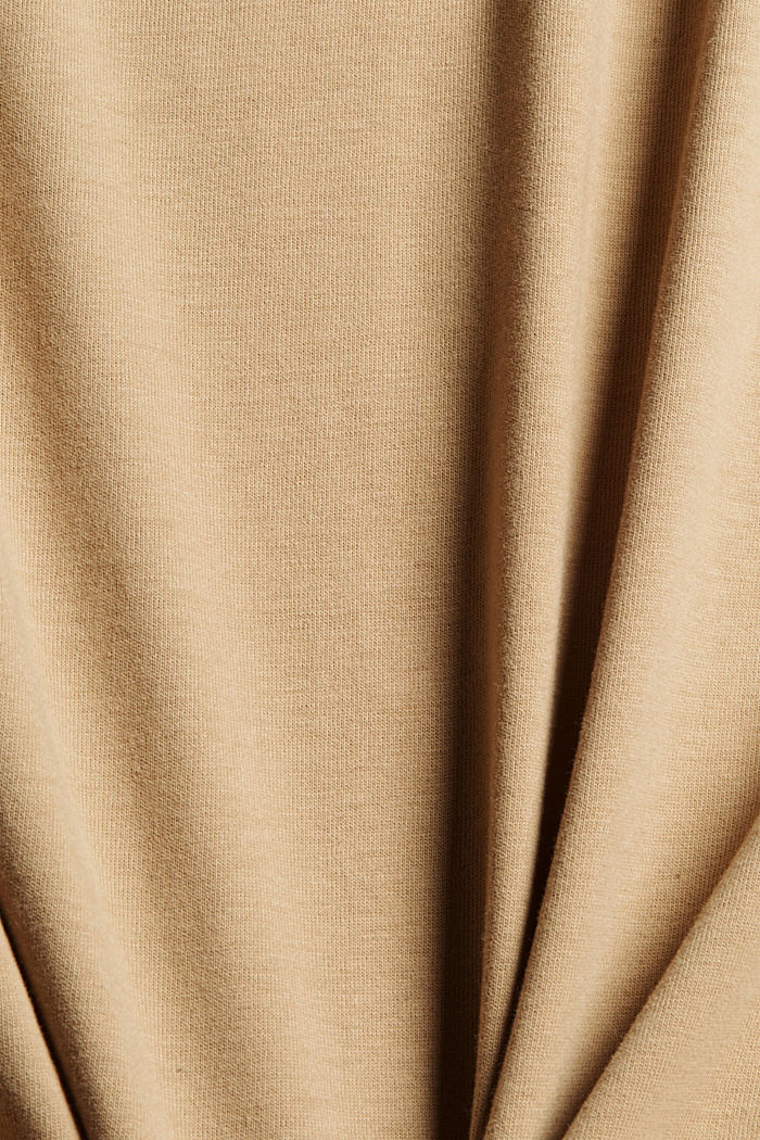 Haut en jersey doté d'une poche, coton biologique, BEIGE, detail image number 5