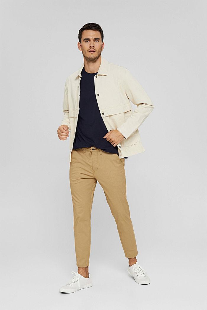Jersey shirt met zak, biologisch katoen, NAVY, detail image number 2