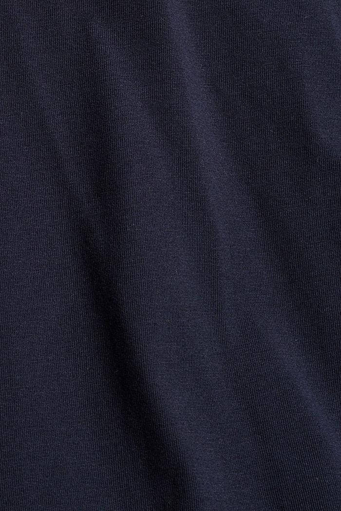 Jersey shirt met zak, biologisch katoen, NAVY, detail image number 4
