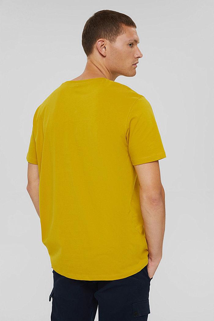 Jersey-Shirt mit Tasche, Organic Cotton, YELLOW, detail image number 3
