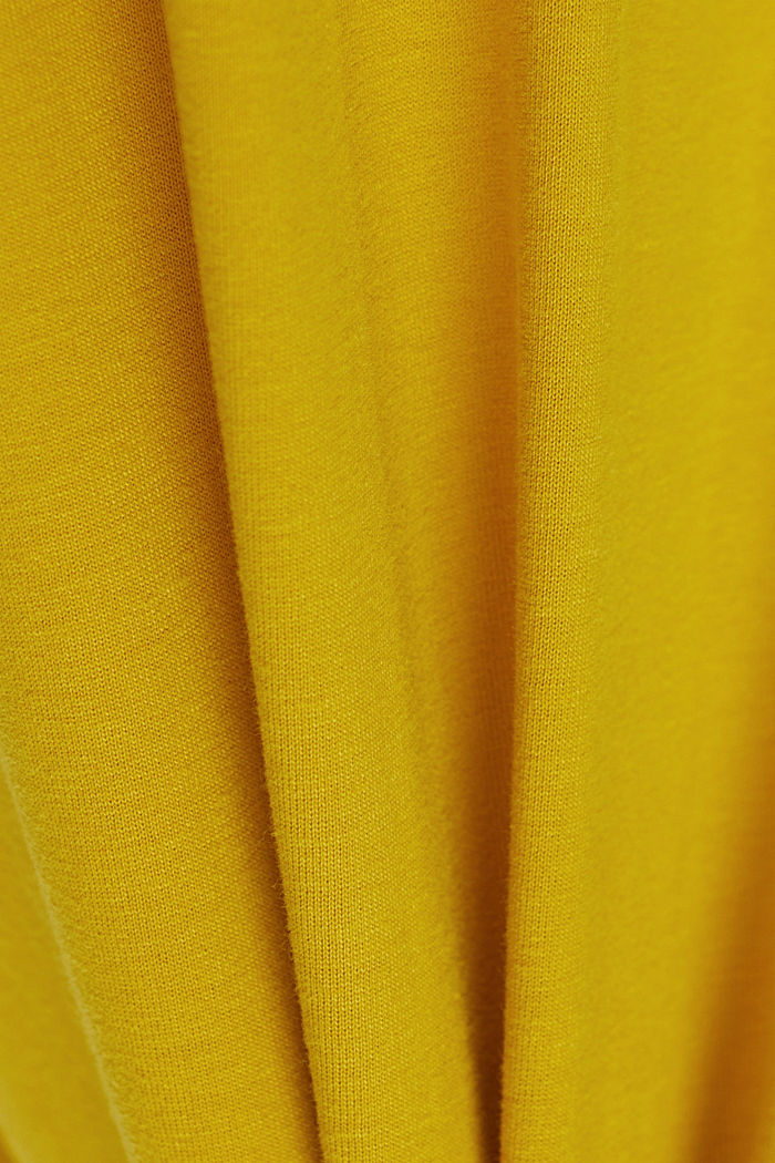 Jersey-Shirt mit Tasche, Organic Cotton, YELLOW, detail image number 4