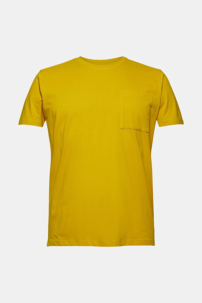 Jersey-Shirt mit Tasche, Organic Cotton, YELLOW, detail image number 5