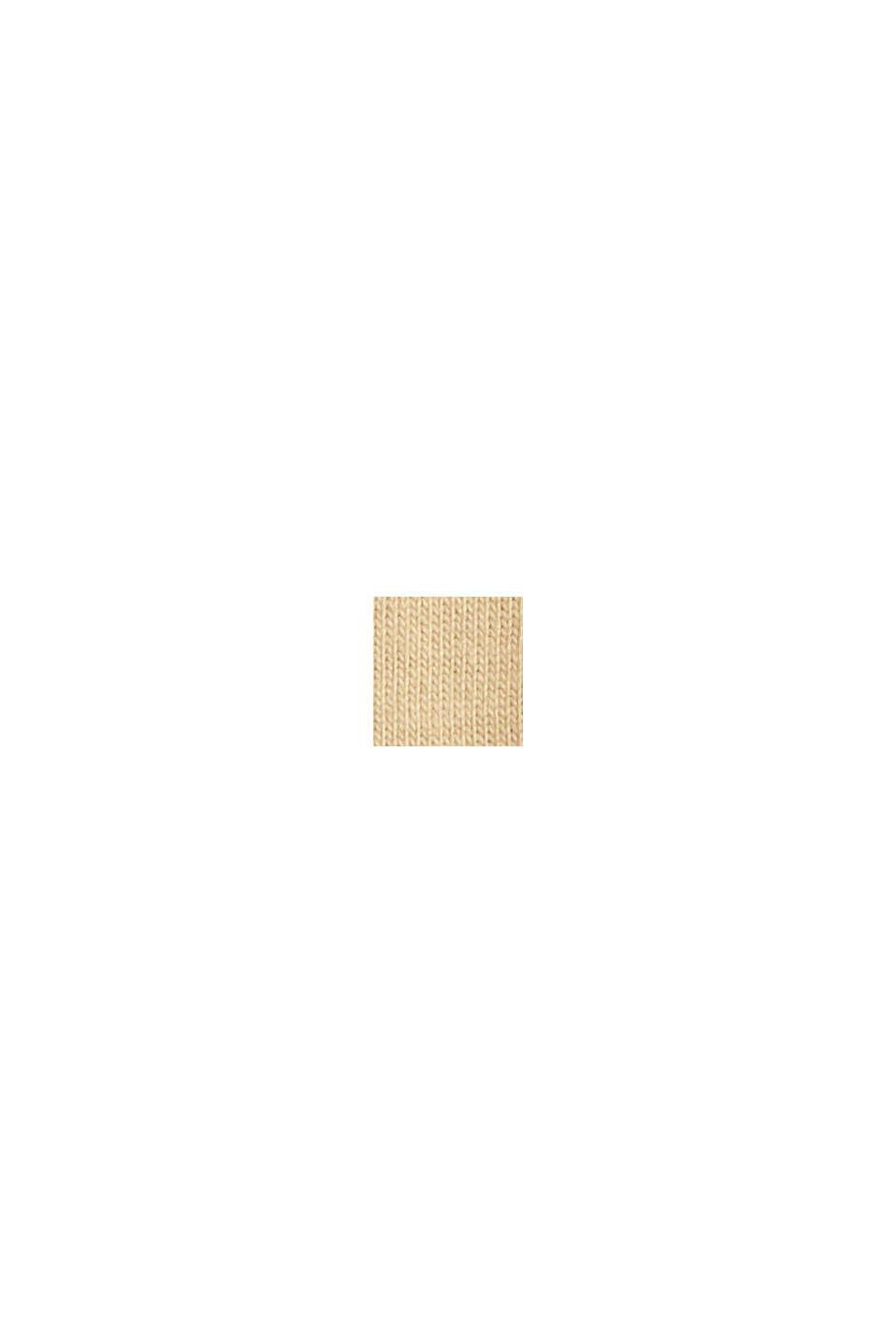 Jersey long sleeve top in organic cotton, BEIGE, swatch