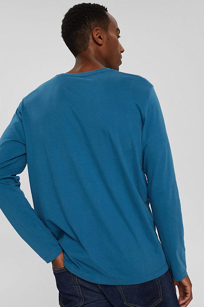 T-shirt en jersey de coton biologique, PETROL BLUE, detail image number 3
