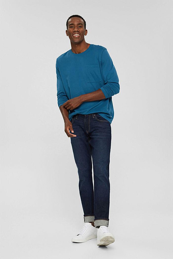T-shirt en jersey de coton biologique, PETROL BLUE, detail image number 2