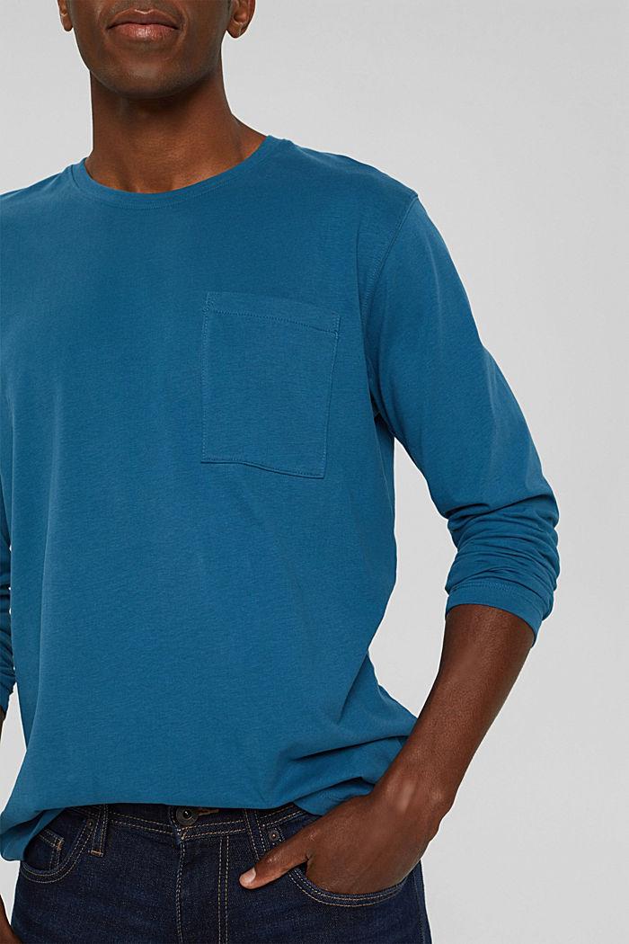 T-shirt en jersey de coton biologique, PETROL BLUE, detail image number 1