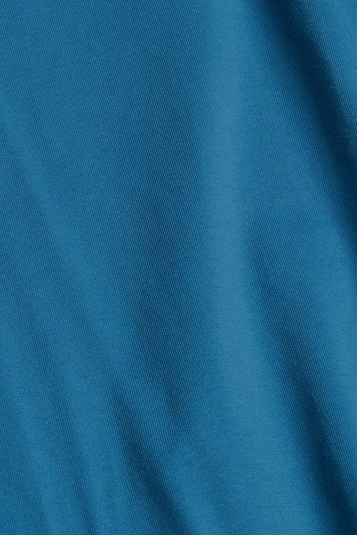 T-shirt en jersey de coton biologique, PETROL BLUE, detail image number 4