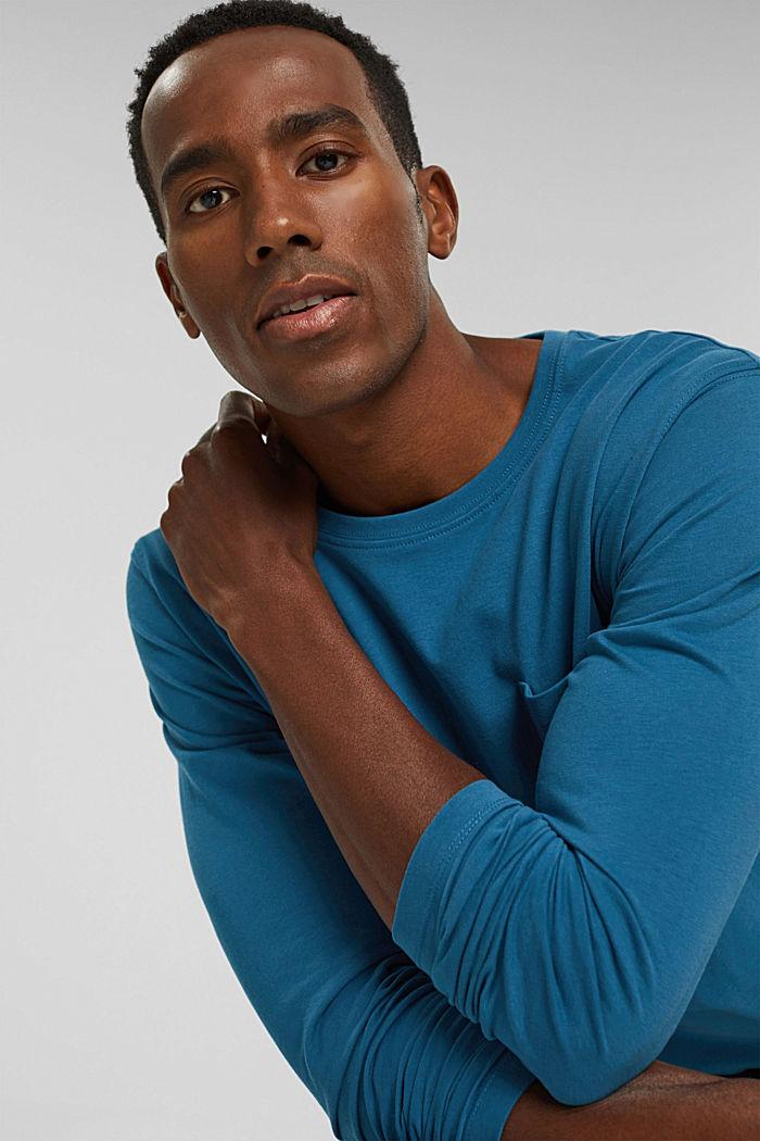 T-shirt en jersey de coton biologique, PETROL BLUE, detail image number 5