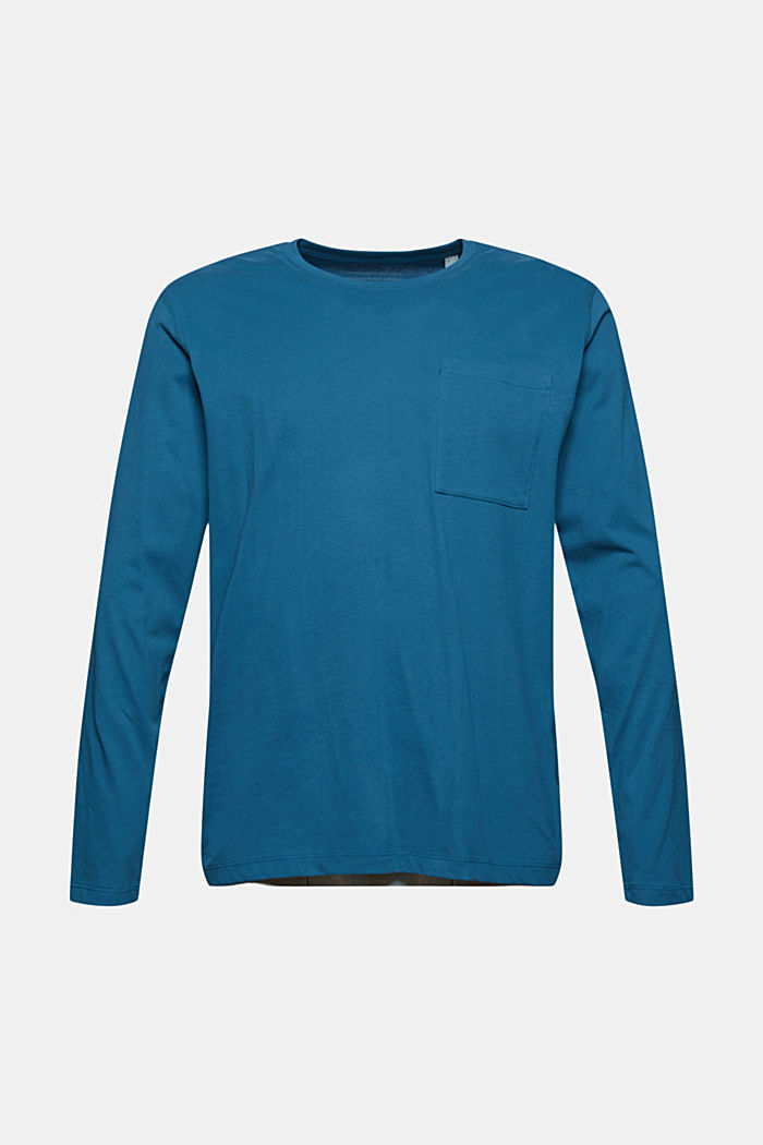 Jersey long sleeve top in organic cotton