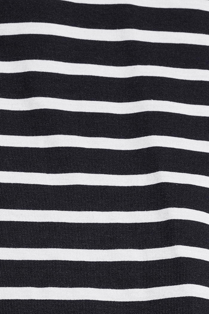 Jersey-Longsleeve mit Streifen, Organic Cotton, BLACK, detail image number 4