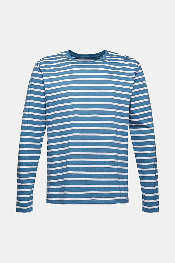 T-shirt à manches longues rayé en jersey, coton biologique
