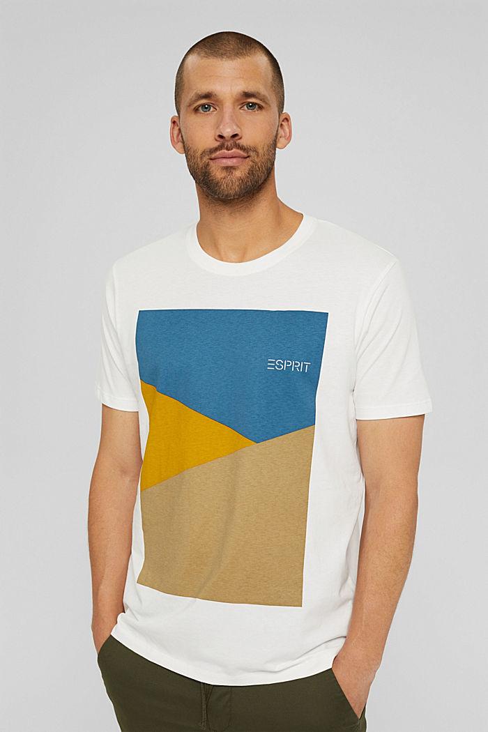T-shirt en jersey doté d´un imprimé, 100% coton bio, OFF WHITE, detail image number 0