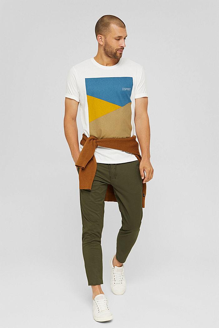 T-shirt en jersey doté d´un imprimé, 100% coton bio, OFF WHITE, detail image number 2