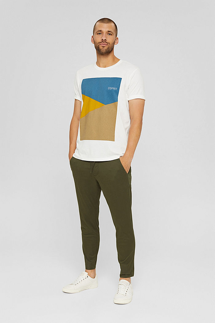 T-shirt en jersey doté d´un imprimé, 100% coton bio, OFF WHITE, detail image number 6