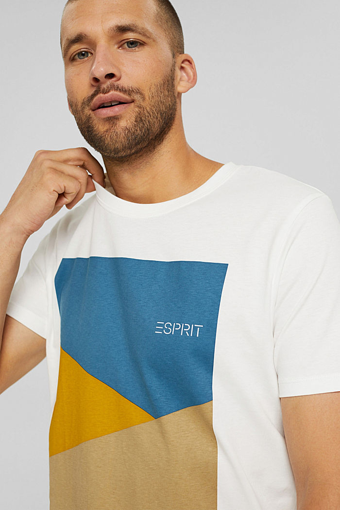 Jersey-T-Shirt mit Print, 100% Bio-Baumwolle