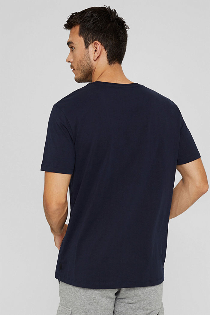 Jersey T-shirt with a print, 100% organic cotton, NAVY, detail image number 3