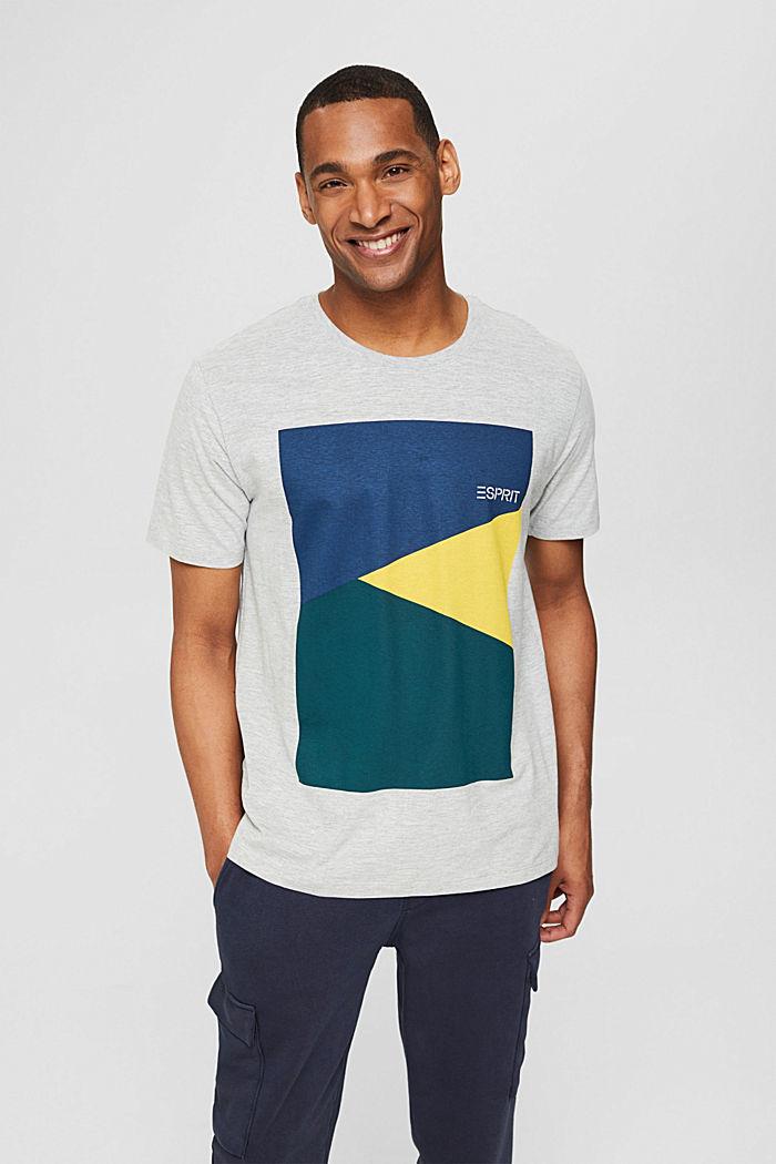 Jersey-T-shirt med tryck i ekobomull