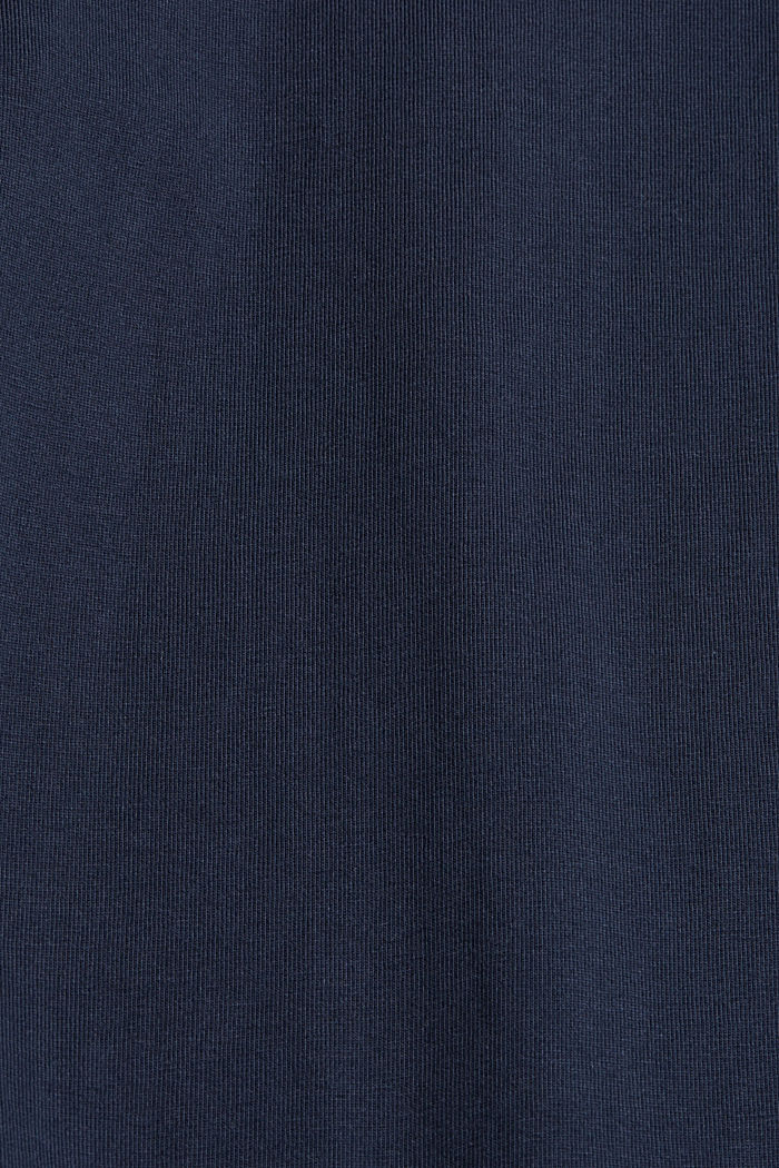 Jersey long sleeve top in organic cotton, NAVY, detail image number 4