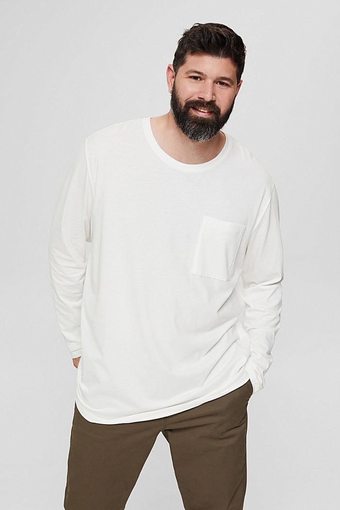 Jersey-Longsleeve aus 100% Bio-Baumwolle, OFF WHITE, detail image number 0