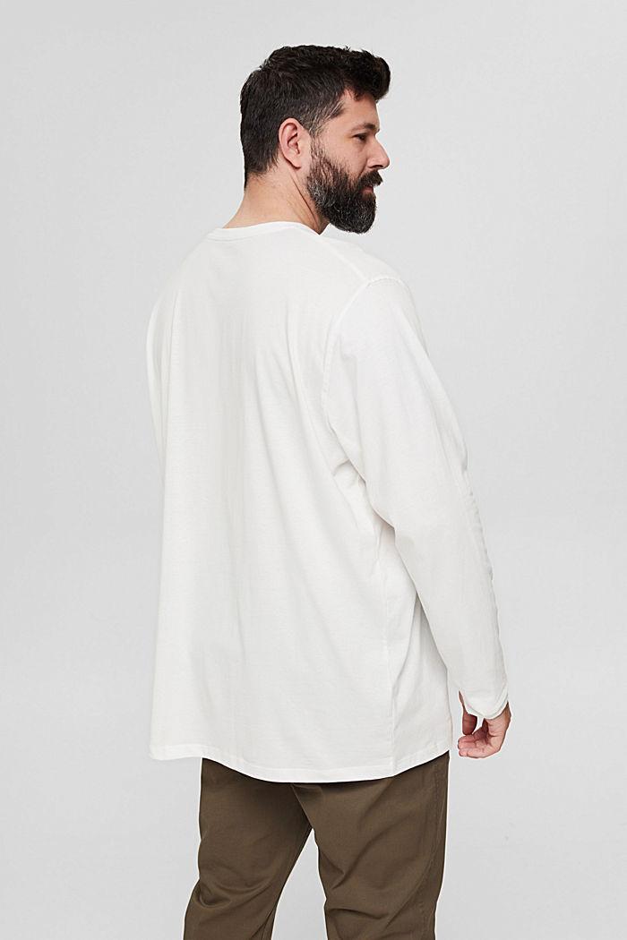 Jersey-Longsleeve aus 100% Bio-Baumwolle, OFF WHITE, detail image number 3