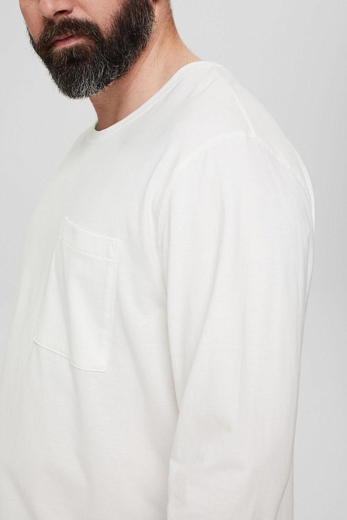 Jersey-Longsleeve aus 100% Bio-Baumwolle, OFF WHITE, detail image number 1
