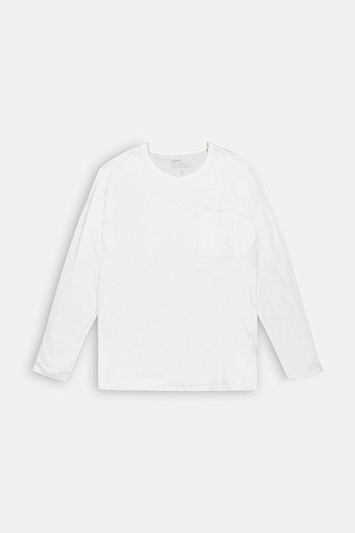 Jersey-Longsleeve aus 100% Bio-Baumwolle, OFF WHITE, detail image number 5