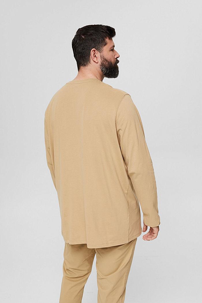 Jersey-Longsleeve aus 100% Bio-Baumwolle, BEIGE, detail image number 3