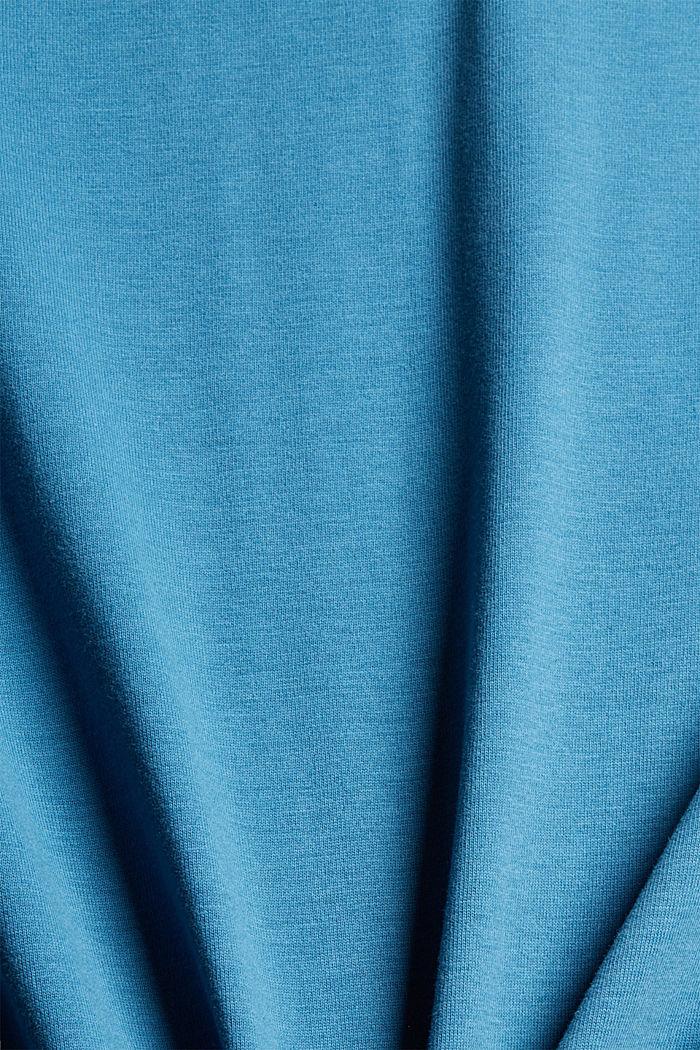 Jersey longsleeve van 100% biologisch katoen, PETROL BLUE, detail image number 1