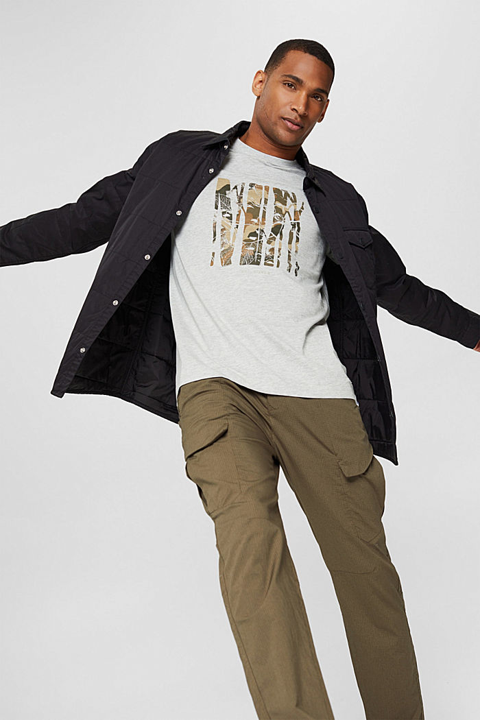 En matières recyclées: t-shirt en jersey de coton