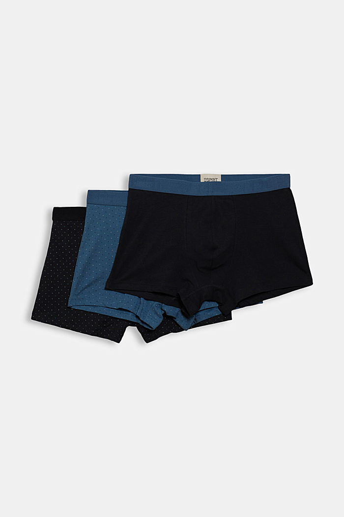 3er-Pack Hipster-Shorts aus Baumwoll-Stretch, NAVY, detail image number 3