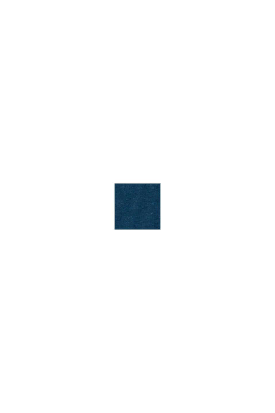 Hipstertrosa i bomullsstretch, 3-pack, PETROL BLUE, swatch