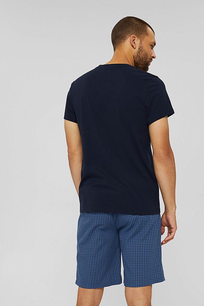 Short pyjamas made of 100% organic cotton, NAVY, detail image number 2