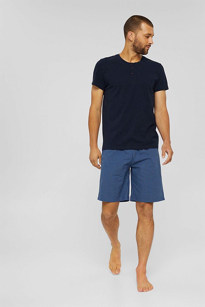 Short pyjamas made of 100% organic cotton, NAVY, detail image number 0